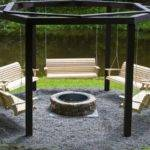 Octagon Fire Pit Swing Home Pinterest Swings
