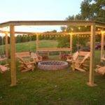 Octagon Fire Pit Swing Ideas