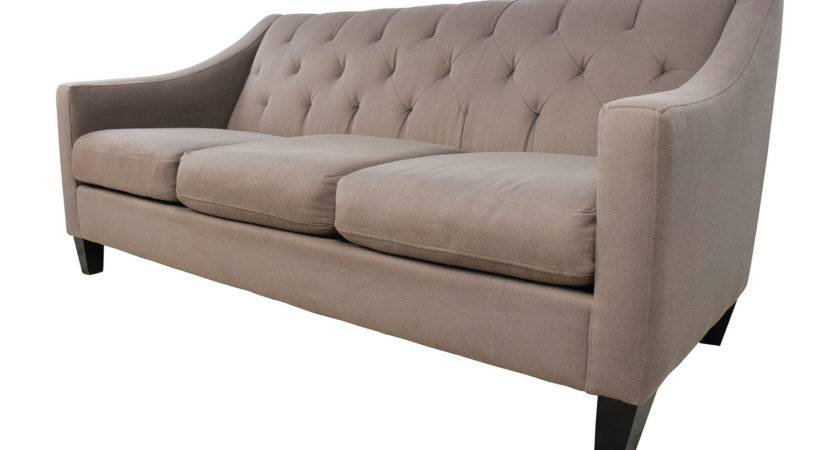 Off Macy Tufted Back Grey Couch Sofas