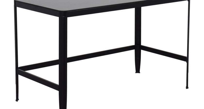 Off Modern Black Metal Table Glass Top Tables