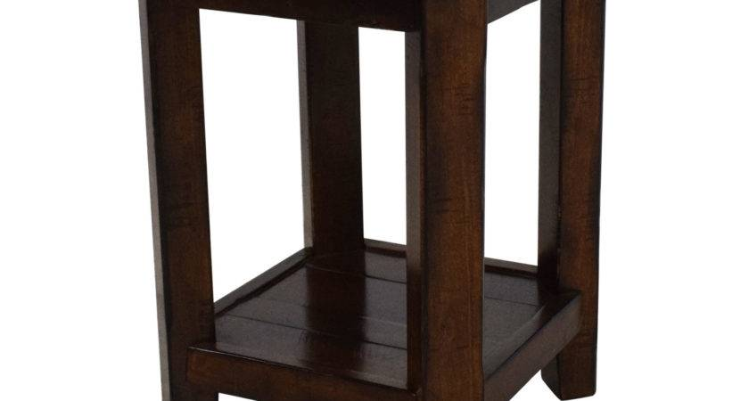 Off Pottery Barn Wooden Side Table Tables