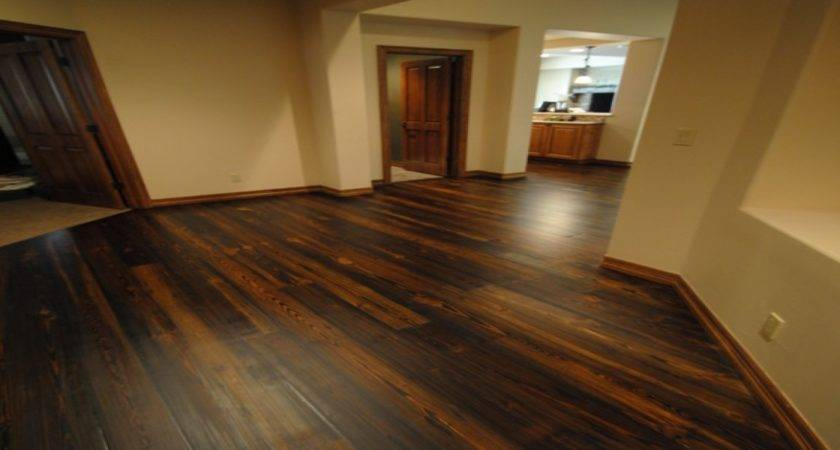 Office Dark Stained Wood Floors Decorations
