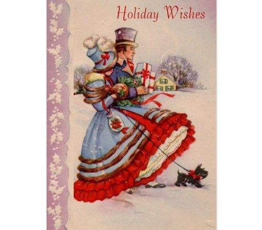 Old Fashioned Christmas Business Holiday Card Zazzle