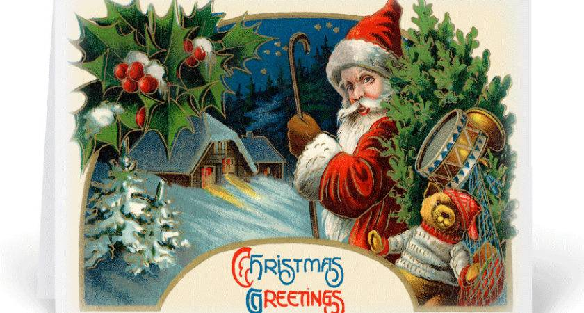 Old Fashioned Christmas Cards Harrison Greetings