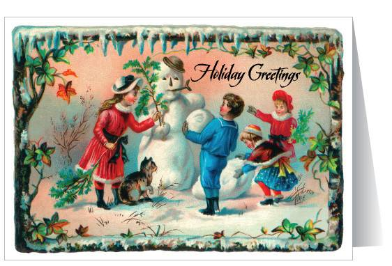 Old Fashioned Santa Sleigh Christmas Card