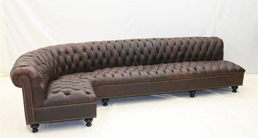 Old Hickory Tannery Leather Sofa