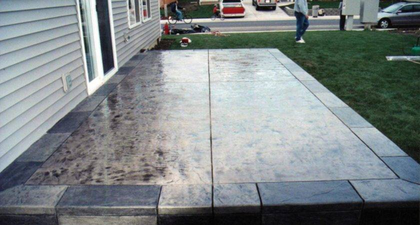 Old Patio Slab Ideas Concrete Stamped