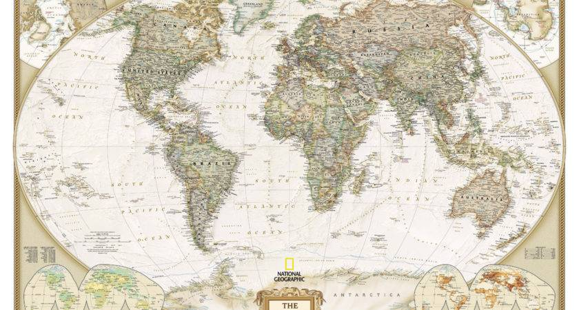 Old World Map Cotton Canvas
