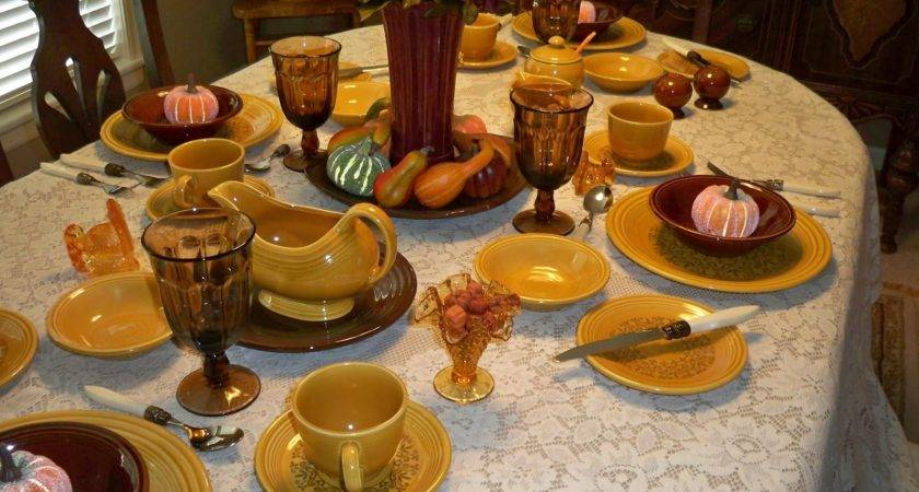 One Dish Dude Here Comes Fall Tablescapes