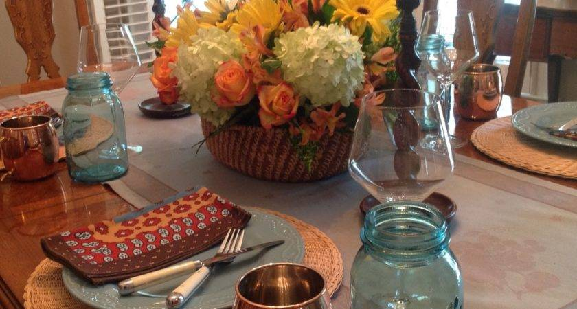 One Fall Centerpiece Three Tablescapes Living