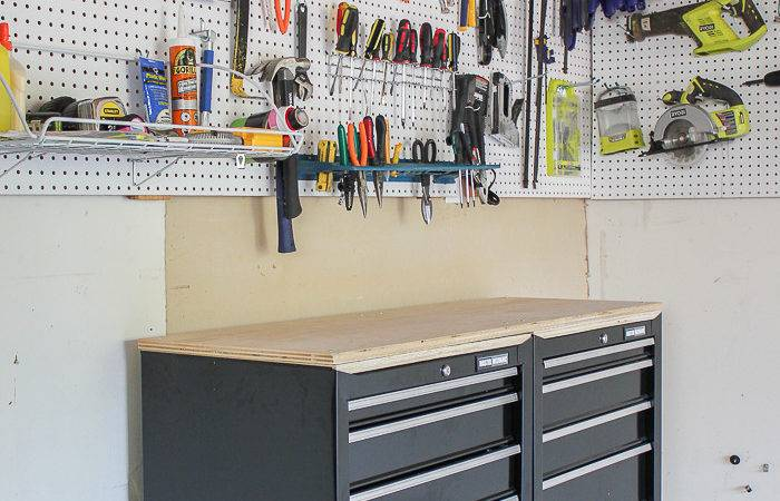 One Stop Workshop Diy Mobile Workbench Pegboard