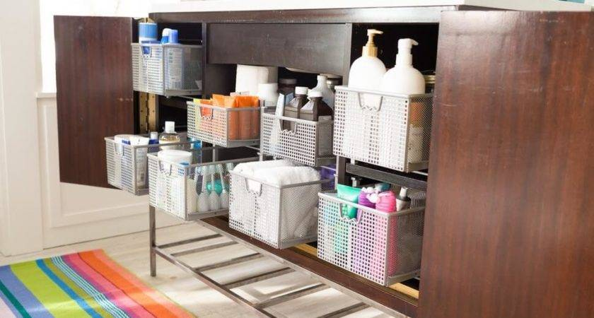 Organize Your Bathroom Without Drawers