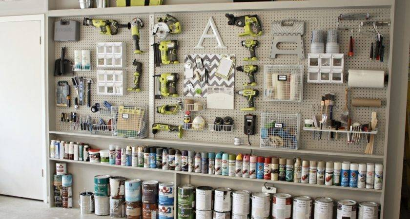 Organizing Garage Diy Pegboard Storage Wall