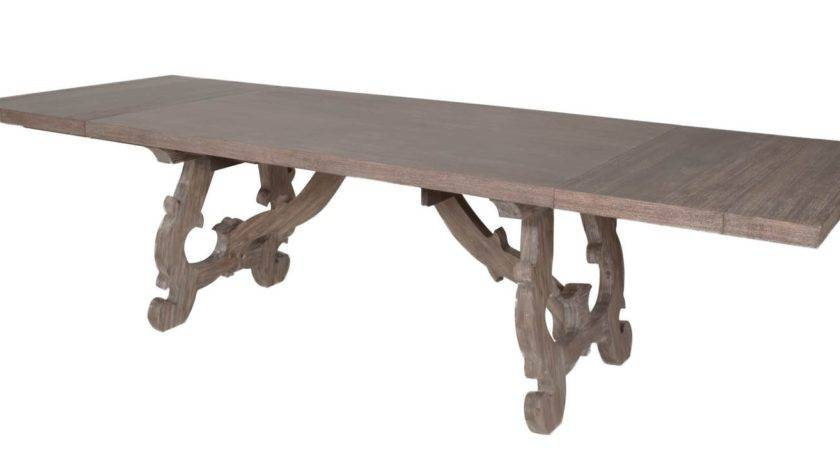 Orient Express Furniture Haute Gray Wash Dining Table