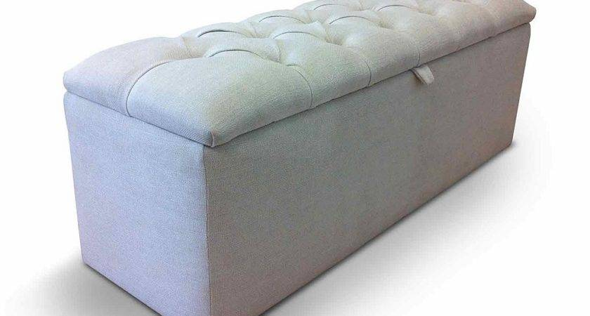 Ottoman Storage Upholstered Microfiber Shoe