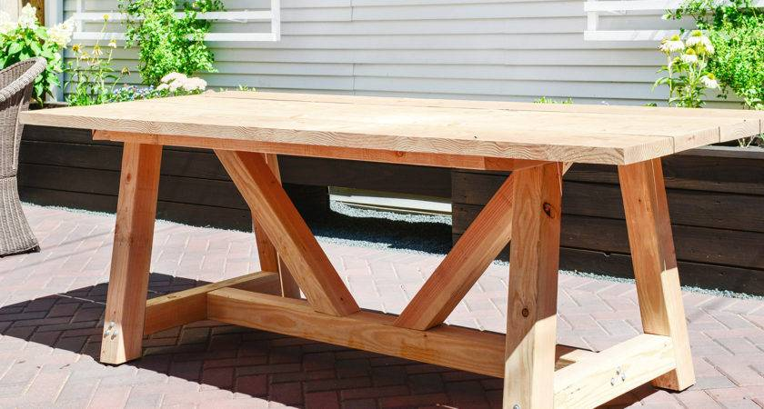 Our Diy Patio Table Part