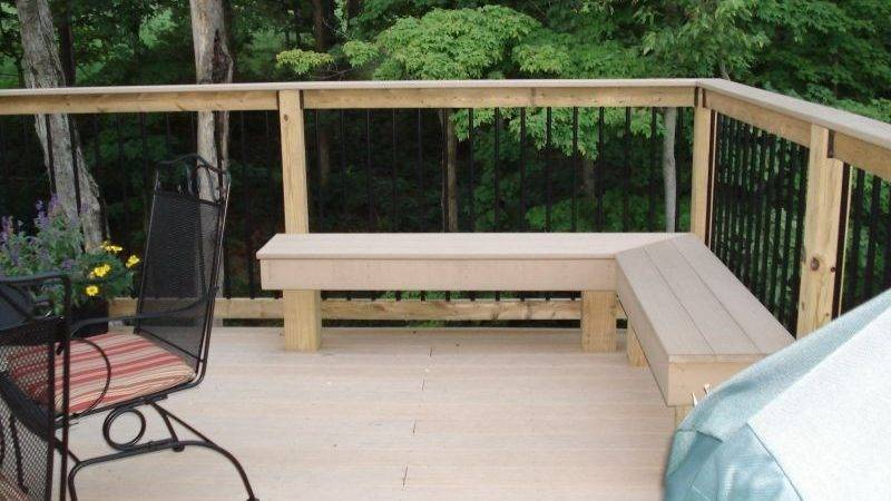 Outdoor Corner Bench Storage Home Design Ideas