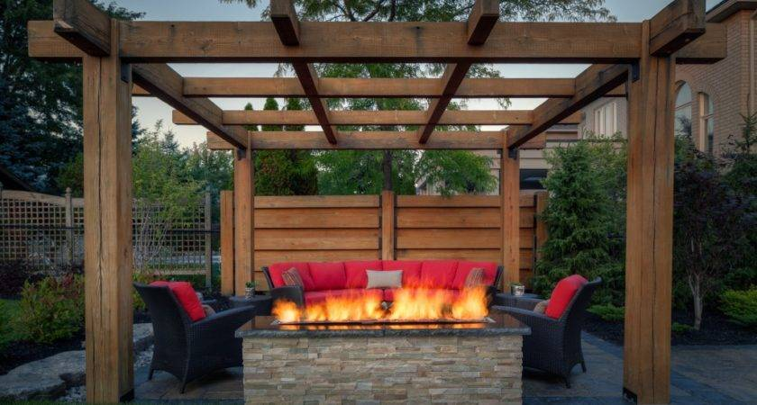 Outdoor Fire Pit Designs Under Pergola Pits