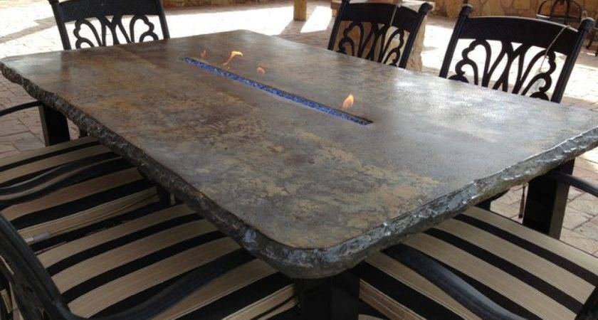 Outdoor Fire Tables Concrete Benches