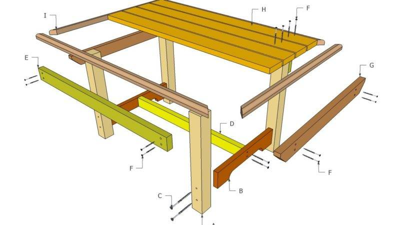 Outdoor Table Plans Diy Shed