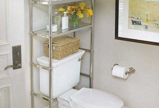 Over Toilet Shelving Units Help Maximize Unused Space