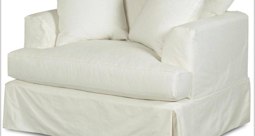 Oversized Chair Ottoman Slipcover Chairs Home