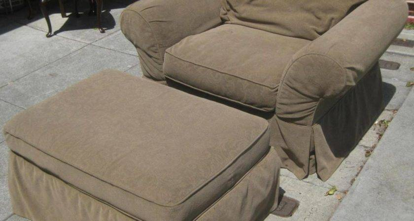 Oversized Chair Ottoman Slipcovers Charming