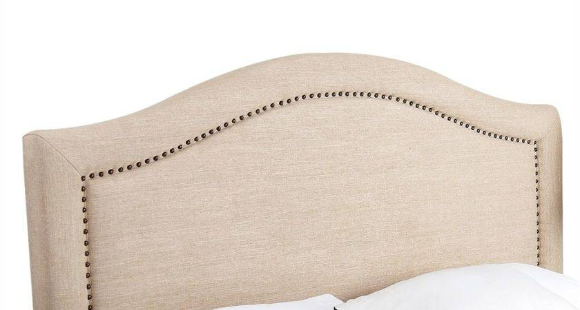 Pacific Loft Katelyn Nailhead Trim Linen Headboard Atg