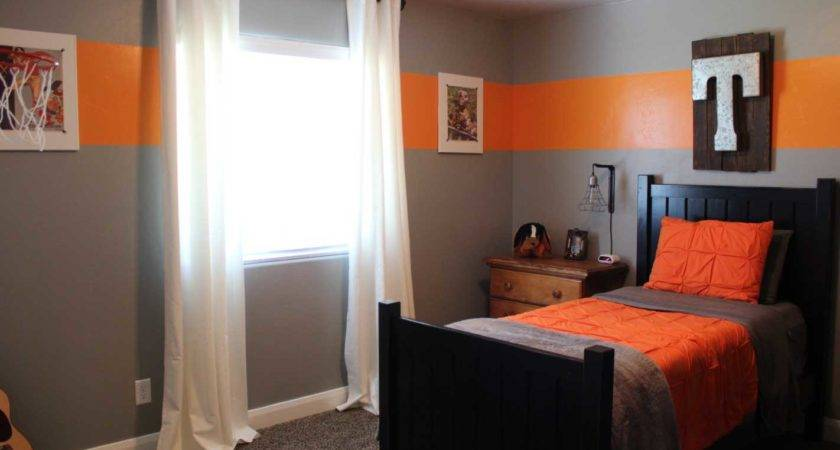 Paint Boys Room Grey Orange Colors