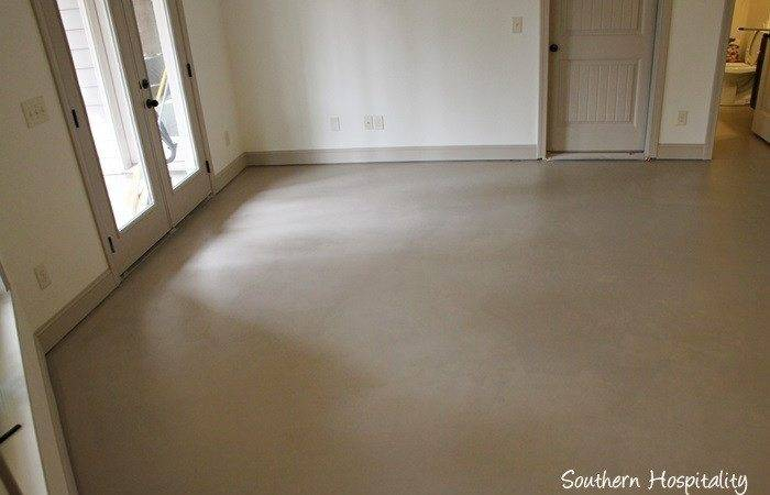 Paint Concrete Floor Southern Hospitality