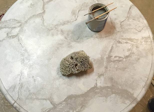 Paint Faux Marble Tabletop Hgtv Decorating