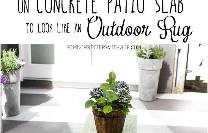 Paint Stripes Like Outdoor Rug Patio Concrete