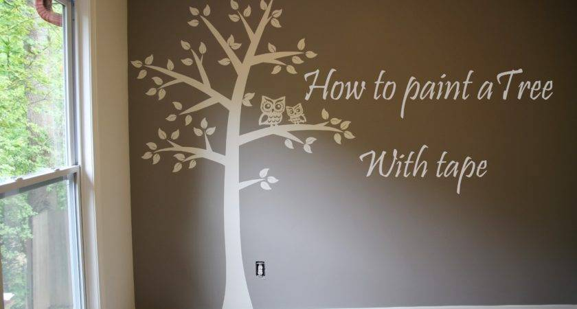 Paint Tree Wall Baby Room Easy Tape Paper Only