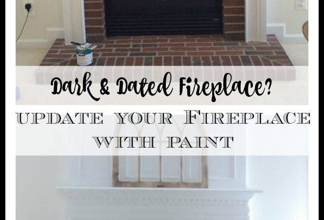 Paint Your Brick Fireplace Surround Magnolia Lane