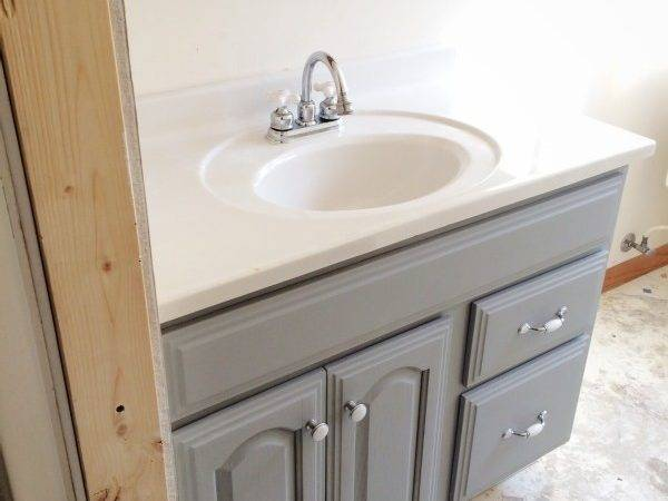 Painted Bathroom Vanity Michigan House Liz