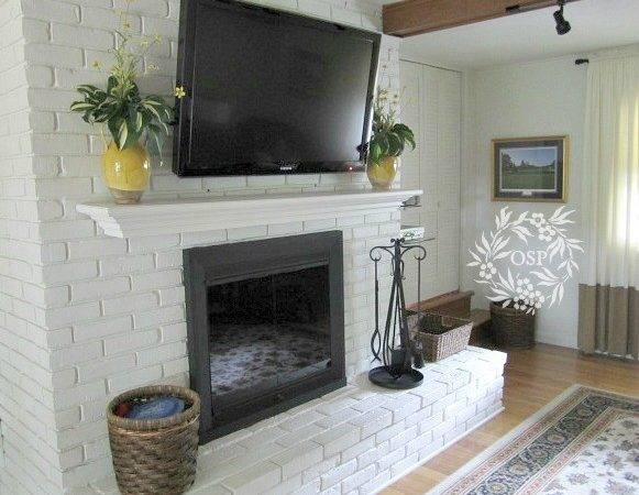Painted Brick Fireplace Makeover Sutton Place
