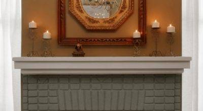 Painted Brick Fireplace Makeover Tos Diy