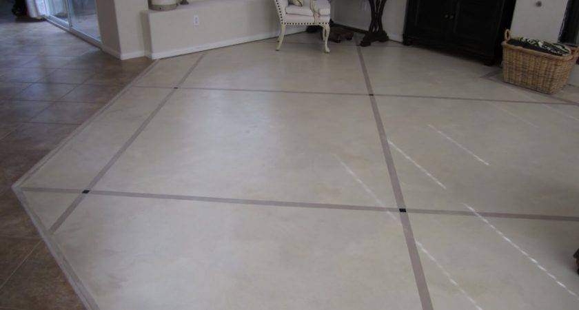 Painted Cement Floors Cross Hatched Pattern Ideas