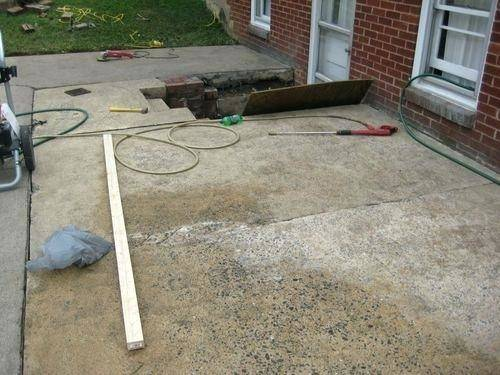 Painted Concrete Patio Stain Stones