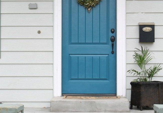 Painted Exterior Front Door Wicker House