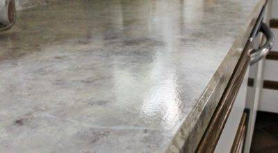 Painted Faux Stone Countertops Days Chalk Chocolate
