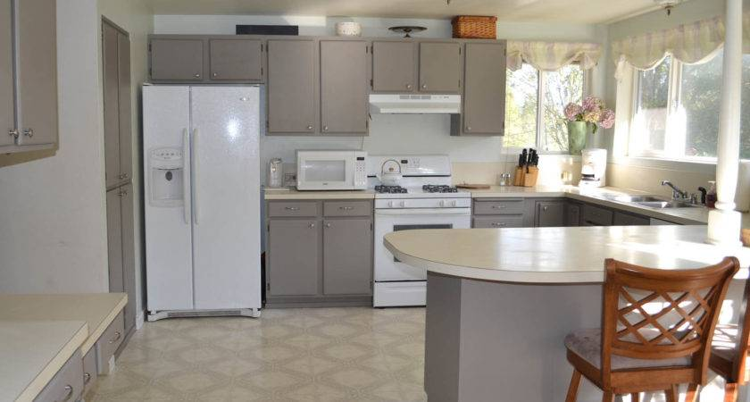 Painted Melamine Kitchen Cabinets Before After
