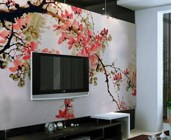 Painted Wall Mural Ideas Living Room Decal