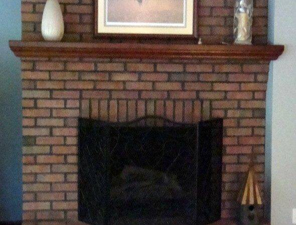 Painting Brick Fireplace Natural Look Feel