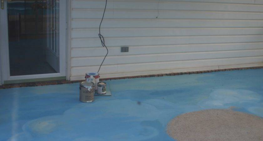 Painting Concrete Patio Day