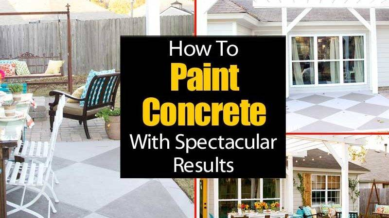 Painting Concrete Patio Spectacular Results