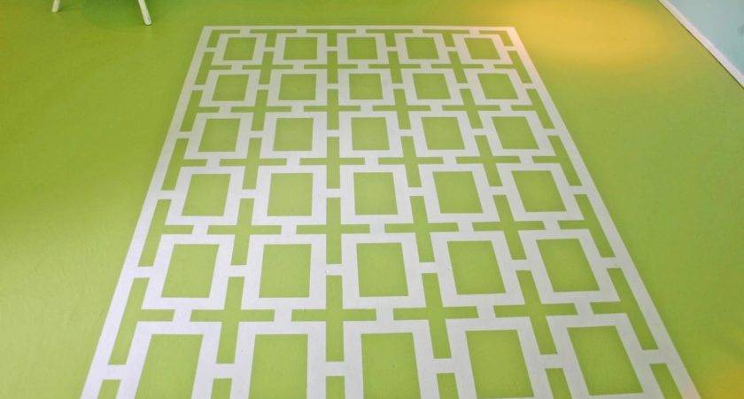 Painting Faux Area Rug Hgtv