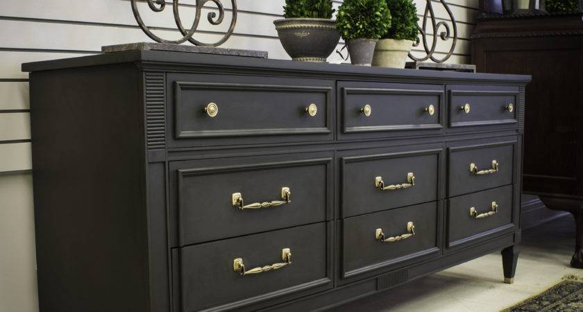 Painting Furniture Black Techniques Painted Dressers Ideas
