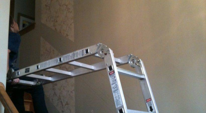 Painting High Ceiling Over Stairs Energywarden