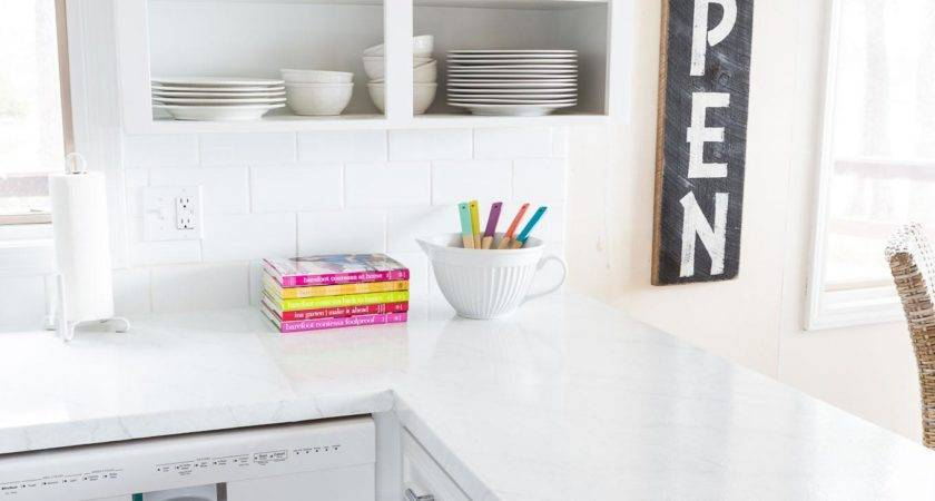 Painting Kitchen Countertops Look Like Carrara Marble